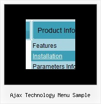 Ajax Technology Menu Sample Vorlagen Feuerwerk