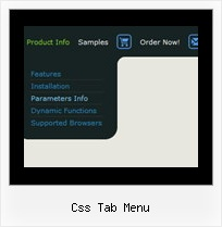 Css Tab Menu Dynamic Dropdown