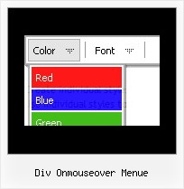 Div Onmouseover Menue Css Stile