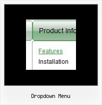 Dropdown Menu Mouse Over Menue