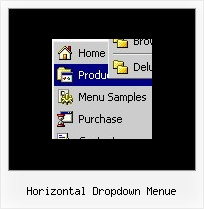 Horizontal Dropdown Menue Navigation Klappmenue
