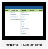 Horizontal Mouseover Menue Scroll Menueleiste Html