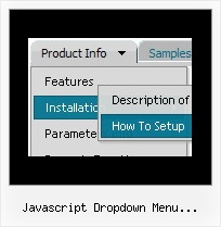 Javascript Dropdown Menu Horizontal Button Software