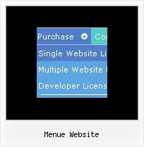 Menue Website Css Javascript Horizontal Menue Frames