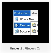 Menuestil Windows Xp Typo3 Dropline Menu