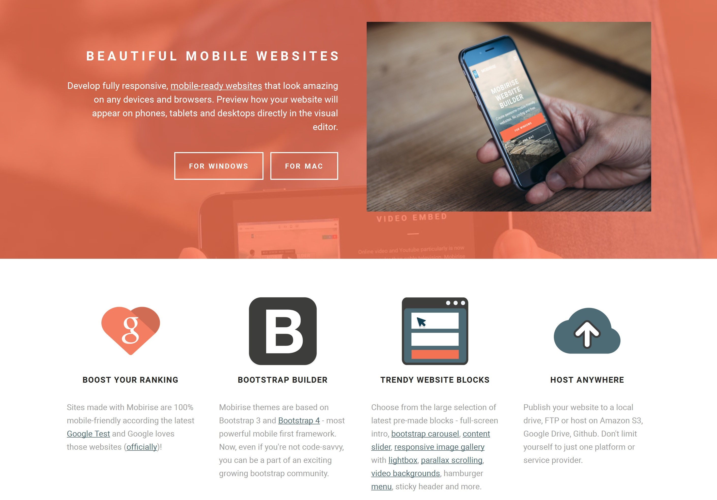 Bootstrap Mobile Website Generator Software