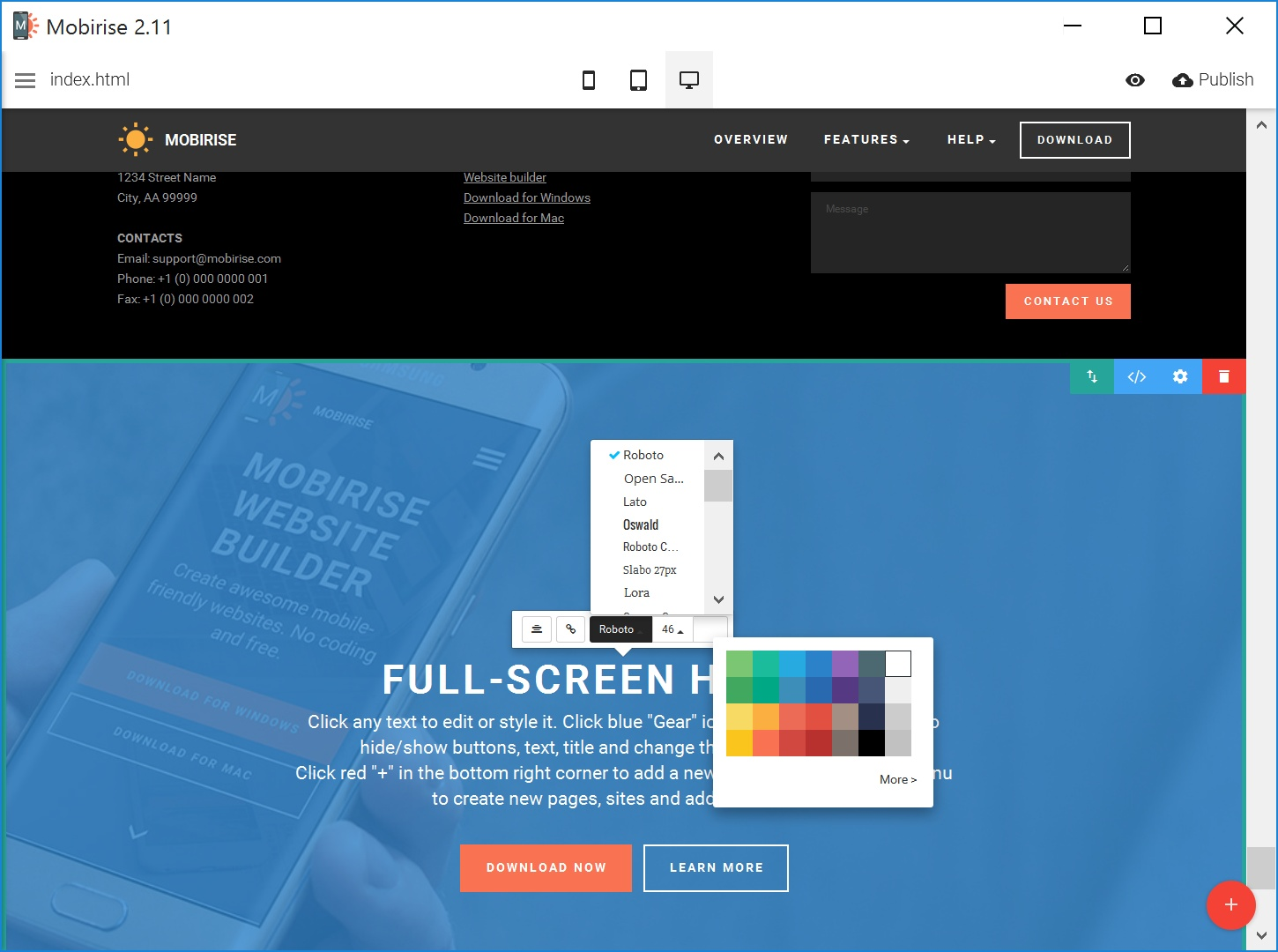 Best Responsive Web Page  Creator Software
