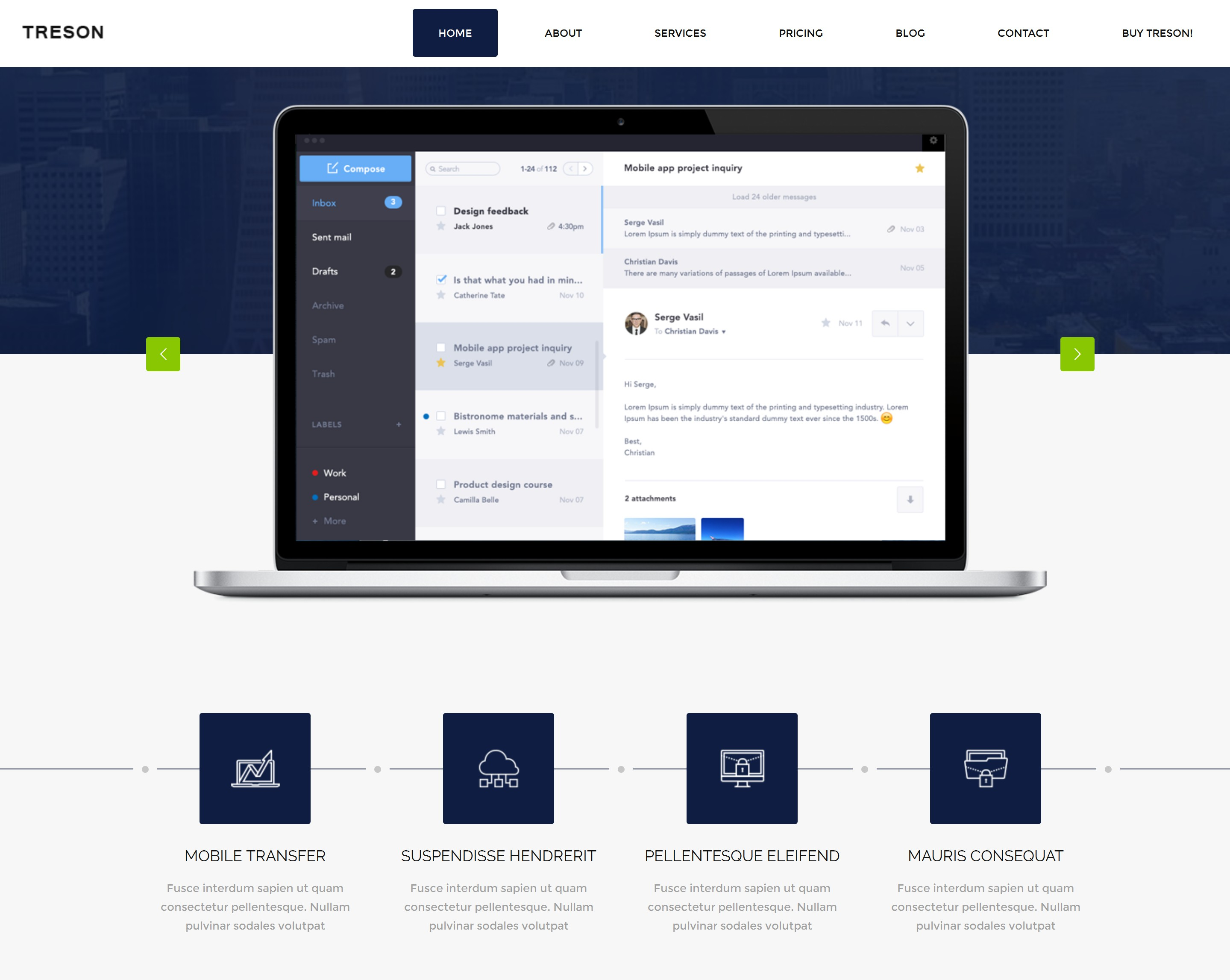 Free Bootstrap App Theme