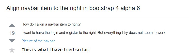 Regulate navbar  object to the right  inside Bootstrap 4 alpha 6