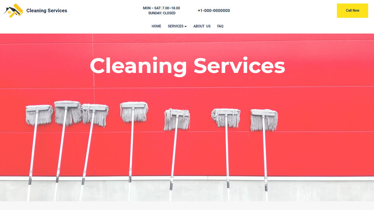 AMP HTML Cleaning Services Template